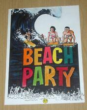 2013 Island Dreams sketch art card 1/1 oversized 5X7 Robert Sumner BEACH PARTY