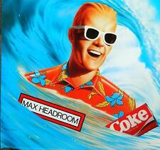 "MAX HEADROOM FULL 14"" X 17"" FULL COLOR ""CATCH THE WAVE"" NEW COKE PRINT POSTER"