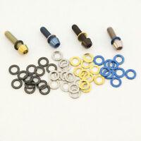 Titanium M5 Stem Washers. Same Diameter as bolt head , Blue Black, Gold, Natural