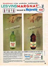 PUBLICITE ADVERTISING  1964    MARGNAT  vin la MAJORETTE 100