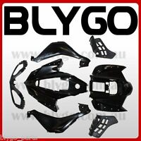 BLACK Plastics Fairing Fenders Cover Kit 110cc 125cc Sport Quad Dirt Bike ATV