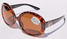 COSTA DEL MAR Isla 580P POLARIZED Sunglasses Womens Retro Tortoise/Amber NEW