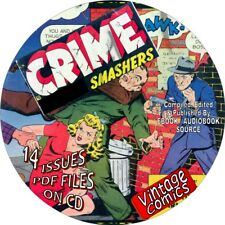 CRIME SMASHERS VINTAGE COMIC BOOKS - 14 ISSUES - PDF FILES ON CD - POLICE, LAW