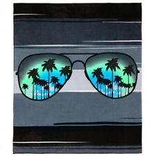 "55""x68"" Sunglasses Beach Blanket Beach Towel 100%Cotton"