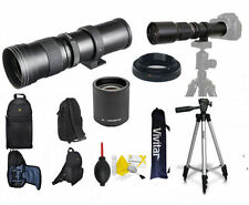 420MM 1600MM  ZOOM LENS + BACKPACK + TRIPOD + 2X FOR CANON EOS REBEL DSLR CAMERA