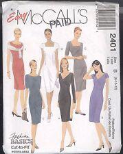McCall's 2401 Misses Dresses Sizes 8 10 12 Cut To Fit Easy Petite-able - Uncut