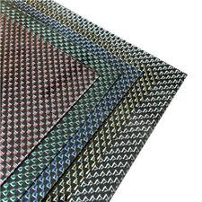400*500mm 100% Carbon Fiber Plate Panel Sheet 3K Colorful Line Decor UK Ship