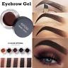 Makeup Eyebrow Cream Tint Pomade Waterproof Gel Enhancer Eye Brow + Brush Set