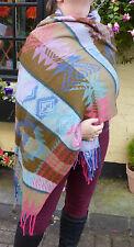 Aztec Design Warm Snug Indian Soft Acrylic Large Shawl (AZ6) CLEARANCE