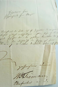 Ober-Hüttenfaktor A. D. J. W.A.Tiemann (1774-1841): Letter Delligsen 1840