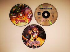 Original Spyro the Dragon Trilogy 1 2 3 Disks Sony PlayStation Games PS1 PAL Set