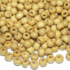 WL657L2 Light Brown 8mm Round Rondelle Wood Beads 4oz Package (750/pkg)