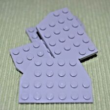 (4) 4x6 Light Gray Tail Wing Plate Bricks  ~  Lego  ~ NEW ~
