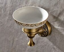 Antique Brass Bathroom Accessories Wall Mounted Bath Soap Dish Holder sba492