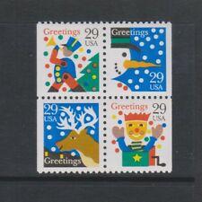 USA - 1993, Christmas Block of 4 set - m/m - SG 2849/52
