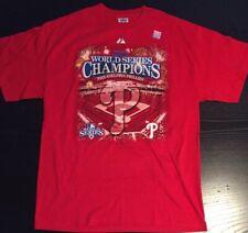 Philadelphia Phillies 2008 World Series Champions Mens Tshirt L, Roster On Back
