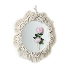 Nordic Ins Round Lace Mirror Artistic Bohemian Hand-woven Cotton Rope Decoration