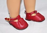 18 Inch Dolls Clothes Red T-Bars Doll Shoes Fits Our Generation American Girl