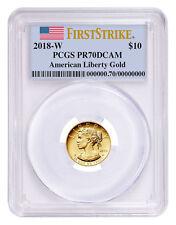 2018-W 1/10 oz American Liberty $10 Gold Pcgs Pr70 Dcam Fs Flag Presale Sku52153
