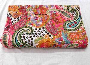 Kantha Quilt Indian Hand Work Kantha Decor Reversible Vintage BohoKantha Bedding