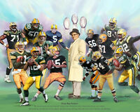Green Bay Packers 15 LEGENDS POSTER Print - Lombardi, Starr, Rodgers, Favre +++