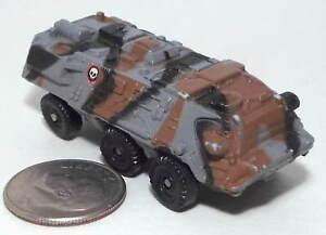 Small  Micro Machine Plastic Military Fuch 6X6 APC in Black, Brown & Gray Camo
