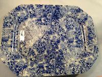 "VINTAGE Laura Ashley Chintzware Serving Platter 13'x10""x1.5"" Beautiful Aristocra"
