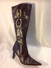 Pellini Brown Knee High Leather Boots Size 36