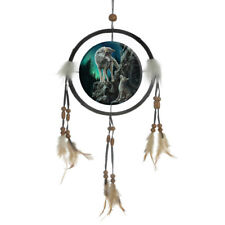 Dreamcatcher Fantasy Owl Wolf Wolves 16cm traditional Hanging dream catcher