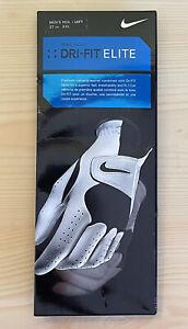 Men's Nike Golf Dri-Fit Elite Cabretta Leather Glove Left Hand Size XXL White