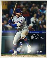 "PETE ALONSO Autographed New York Mets ""Hitting"" 16 x 20 Photograph FANATICS"
