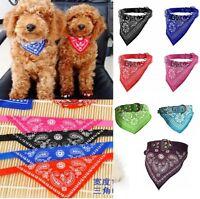 Adjustable Pet Dog Puppy Cat Triangle Neck Scarf Bandana PU Collar Neckerchief