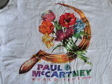 Vintage 1989 World Tour Flowers in the Dirt Paul McCartney Sleeveless Tshirt  L