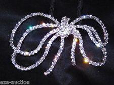 Hair Accessories Bridal Silver Clear Rhinestones Bow hair Ring Hair Rope