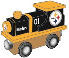 Pittsburgh Steelers Wooden Toy Train [NEW] NFL Wood Christmas Kids Boys Gift Set