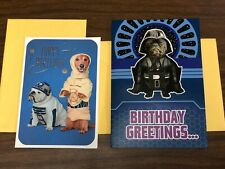 STAR WARS and DOGS birthday cards - IMPERIAL MARCH music card - Hallmark - NEW