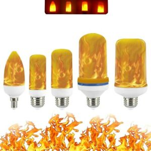 LED Flame Effect Fire Light Bulbs Flickering Emulation Decors Lamp Bulb 85-265V