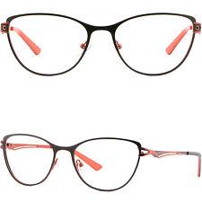 Womens Cateye Frame Light Metal Prescription Glasses RX Sunglasses Spring Hinged