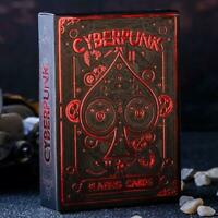 Cyberpunk Playing Cards Red Edition hand-illustrated deck