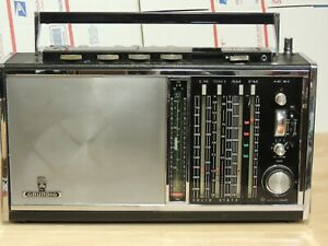 Grundig Satellit Transistor 6001 World Receiver AM/FM/SW Radio tested on AM & FM