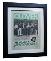 CLOVER+Unavailable+ALBUM+POSTER+AD+RARE+ORIGINAL 1977+FRAMED+EXPRESS GLOBAL SHIP