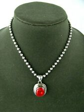 Gorgeous Red Jasper 925 Sterling Silver Necklace