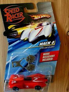 2007 HOT WHEELS SPEED RACER MACH 4 Car w/Saw Blades  NEW
