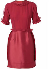 LANVIN GORGEOUS EVENING GOWN DRESS RED SILK NEW Org. $3780 SZ 38/6