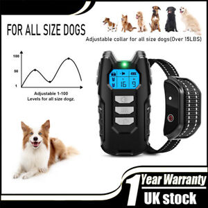 Electric Pet Dog Training Collar Shock Anti-Bark Electronic Remote Rechargeable