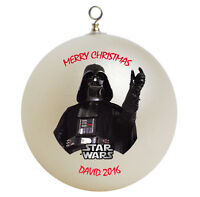 Personalized Star Wars Darth Vader Christmas Ornament