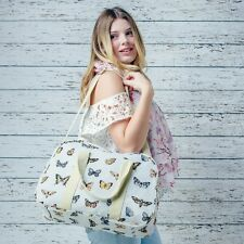 New in Overnight Travel, Maternity, Gym Bag in a Light Grey Butterfly Design