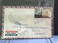 Egypt 1960  Air Mail to Lebanon stamp cover R31932