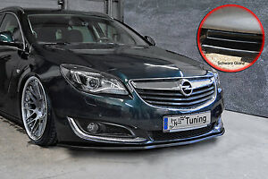 Spoilerschwert Frontspoiler Lippe ABS Opel Insignia Facel. ABE schwarz glänzend