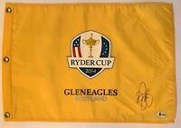 Rickie Fowler signed Ryder Cup flag 2014 gleneagles golf pga beckett coa